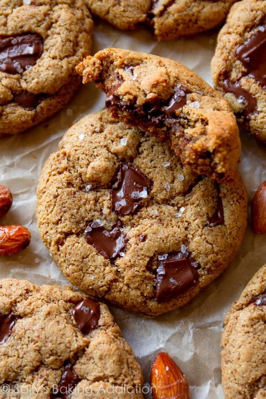 Maple Almond Chocolate Chunk Cookies