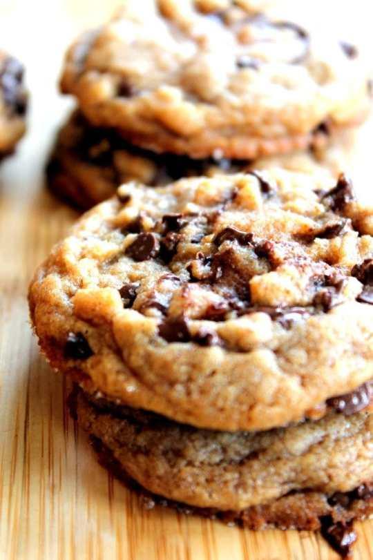 Peanut Butter Chocolate Sea Salt Cookies