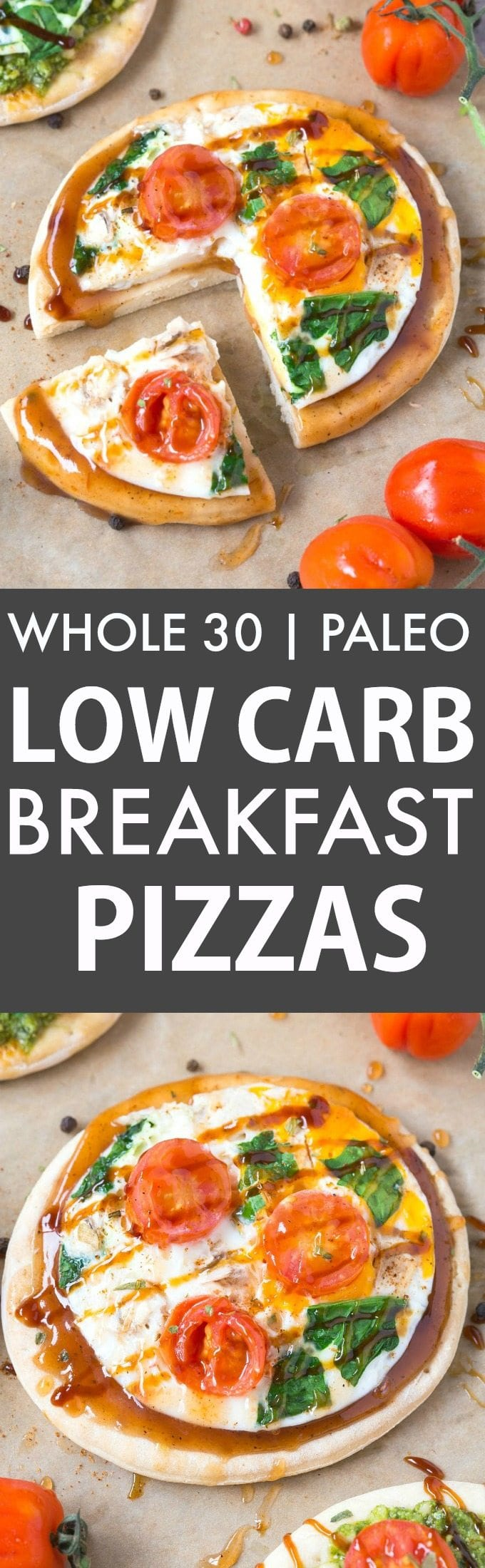 Healthy Low Carb Breakfast Pizzas Whole30 Paleo GF Compliant