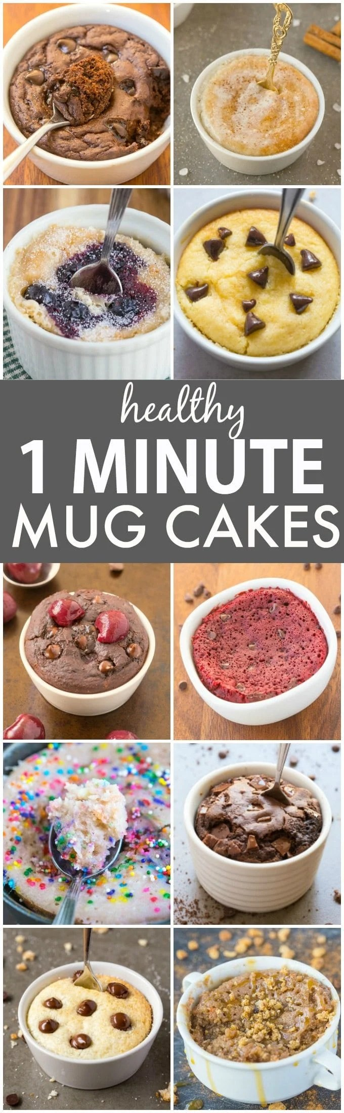 The Best Clean Eating Healthy 1 Minute Mug Cakes and Muffins