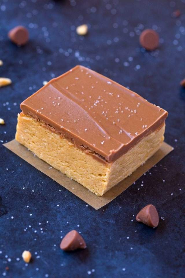 Healthy 4 Ingredient No Bake Protein Fudge Bars (V, GF, DF)- Smooth, creamy and melt in your mouth fudge bars packed with protein and completely guilt-free! {vegan, gluten free, sugar free recipe}- thebigmansworld.com