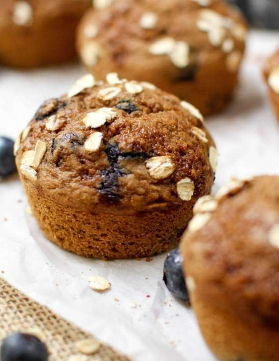 Flourless Vanilla Blueberry Muffin