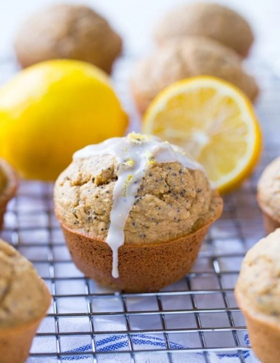 Flourless Lemon Poppy Seed Muffins