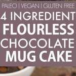 Healthy 4 Ingredient Flourless Chocolate Mug Cake Paleo Vegan Gluten Free The Big Man S World