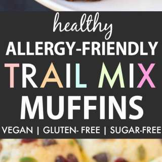 Healthy Allergy-Friendly Trail Mix Muffins (Gluten Free, Vegan, Sugar Free)