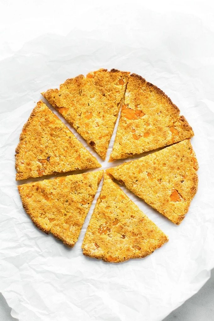 3 Ingredient Sweet Potato Pizza Crusts (Paleo, Vegan, Gluten Free)- An easy, 3 ingredient stovetop pizza crust recipe made with NO grains, NO cauliflower and NO eggs! - thebigmansworld.com