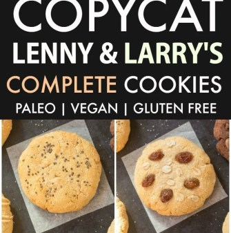 Copycat Lenny & Larry's Complete Cookies- All TEN flavors! (V, GF, DF, Paleo)- An easy, healthy, copycat recipe for ten cookies- dense, chewy and soft in the center! 5 Ingredients and no sugar! {vegan, gluten free, low carb}- thebigmansworld.com