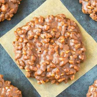 No Bake Chocolate Peanut Butter Crunch Cookies