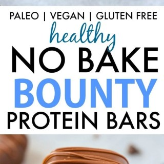 Homemade No Bake Bounty Protein Bars (Paleo, Vegan, Gluten Free)