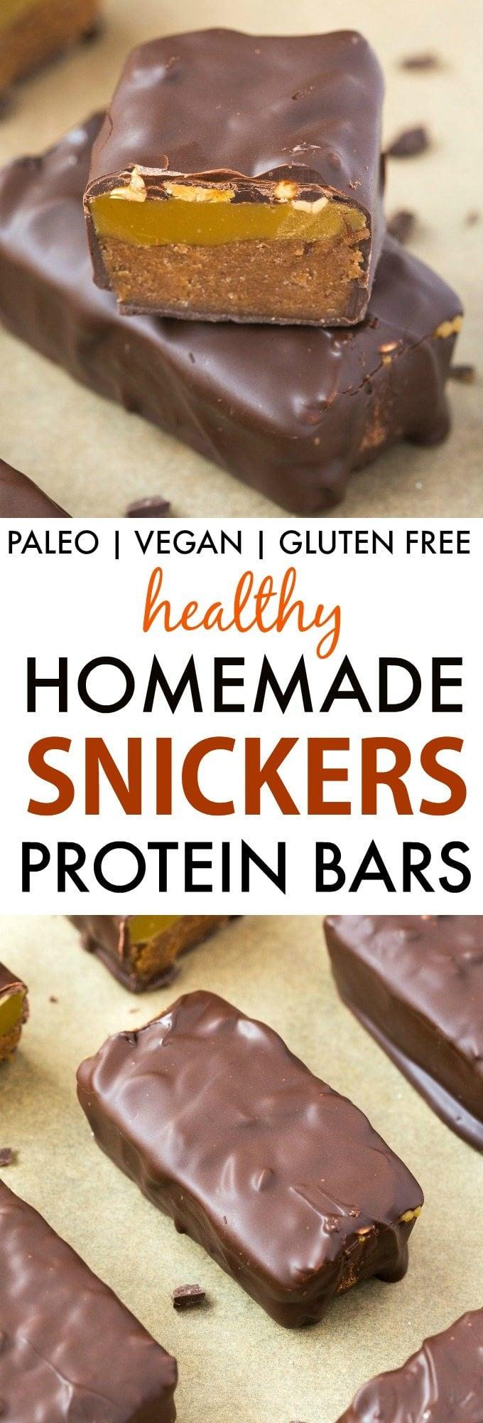 healthy homemade snickers protein bars paleo vegan gluten free
