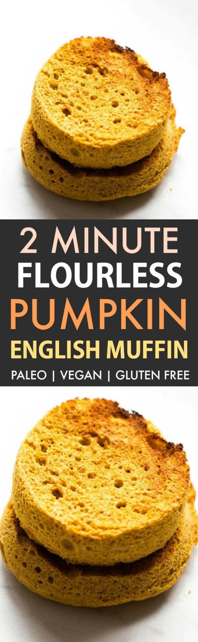 2-Minute Keto English Muffin (Paleo, Low Carb, Vegan, Gluten Free)- An easy recipe for a 2-minute flourless English muffin recipe- Super low carb and no grains or eggs needed- Oven option included! #keto #mugmuffin #ketobread #paleobread | Recipe on thebigmansworld.com