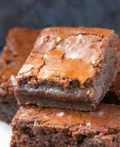 Easy fudgy 3 ingredient Nutella Brownies