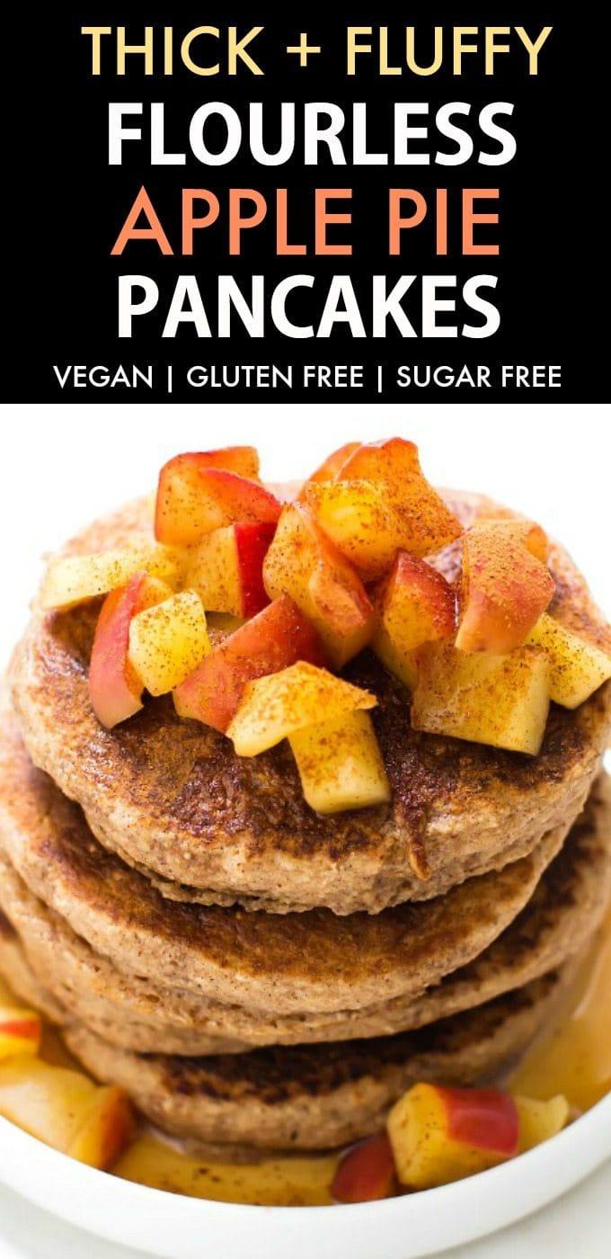 Uncategorized Pancake Pillow healthy fluffy flourless apple pie pancakes vegan gluten free sugar an
