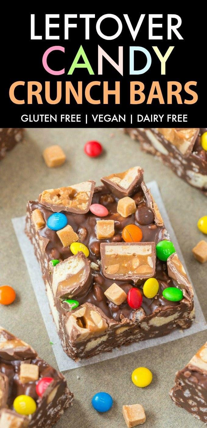 Gluten Free Candy Crunch Bars (Vegan, Dairy Free)