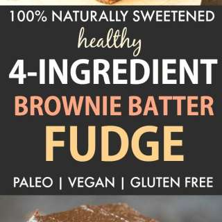 Healthy Brownie Batter Fudge (Paleo, Vegan, Naturally Sweetened)