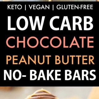 Low Carb No Bake Chocolate Peanut Butter Bars (Keto, Vegan, Sugar Free)