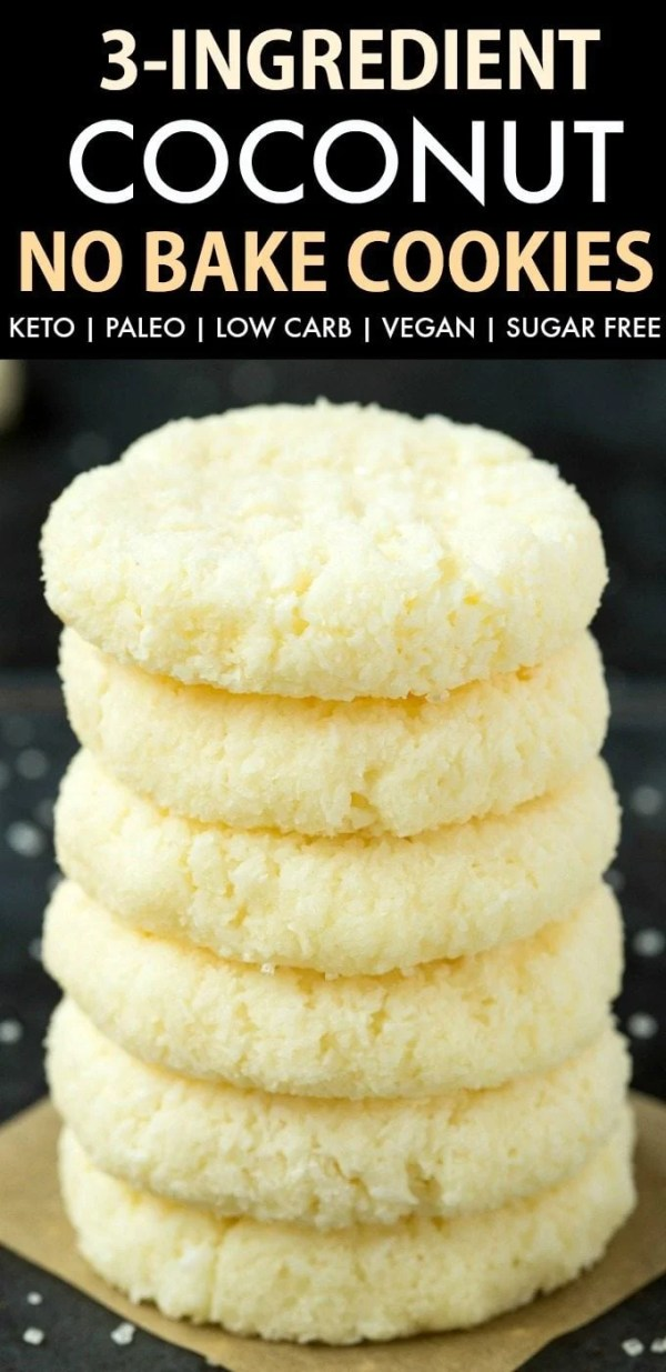 3-Ingredient No Bake Coconut Cookies
