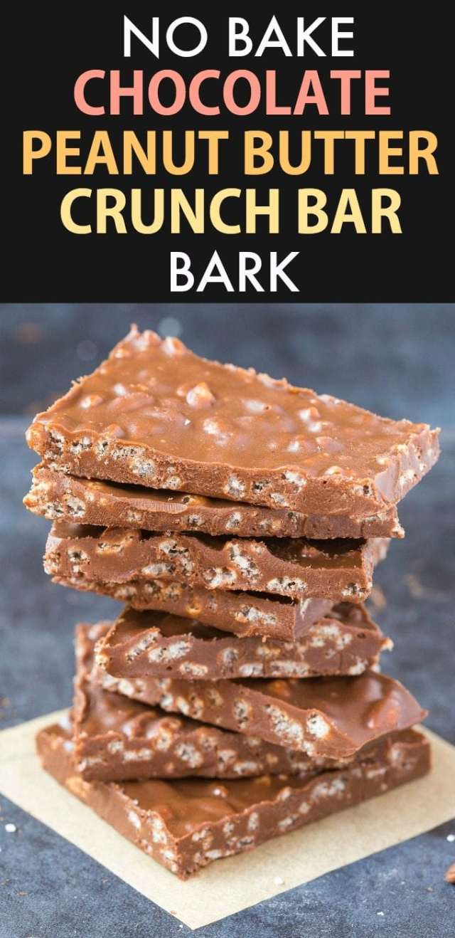 Healthy Chocolate Peanut Butter Crunch Bark (Vegan, Gluten Free, Sugar Free)- Easy homemade bark using just 5 ingredients and ready in 5 minutes- Dairy free and the perfect dessert or holiday gift! | #bark #chocolatepeanutbutter #dairyfree #glutenfreedessert #nobake | Recipe on thebigmansworld.com