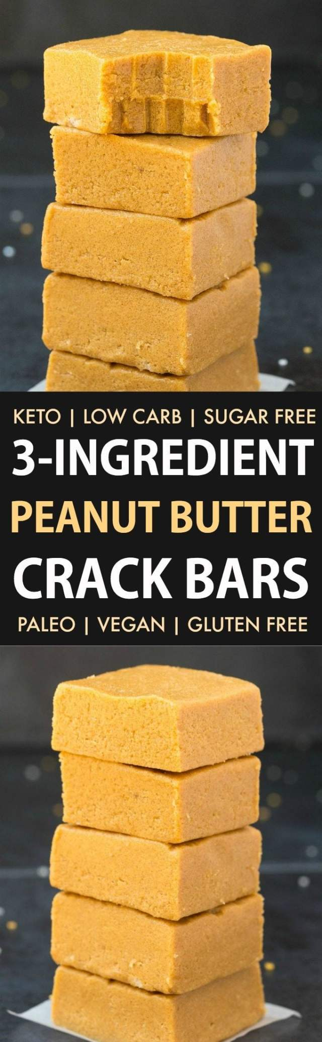 3-Ingredient No Bake Peanut Butter Crack Bars (Keto, Paleo, Vegan, Sugar Free)- Make this easy no bake peanut butter crack bars recipe which tastes like fudge in under 5 minutes, to satisfy your sweet tooth the healthy way! Low carb, smooth, creamy and with just 3 ingredients! #lowcarbrecipe #healthyfudge #peanutbutter #ketodessert #lowcarb #sugarfree   Recipe on thebigmansworld.com