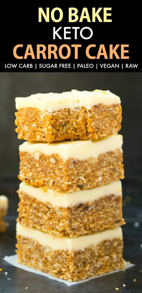 Healthy No Bake Carrot Cake