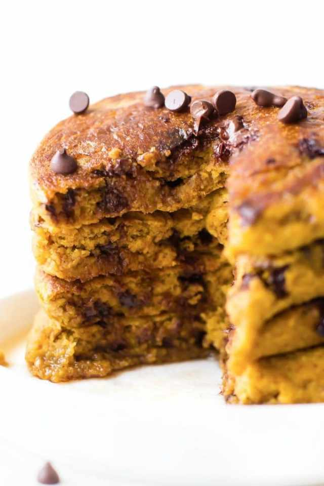 Fluffy Low Carb Keto Chocolate Chip Pancakes
