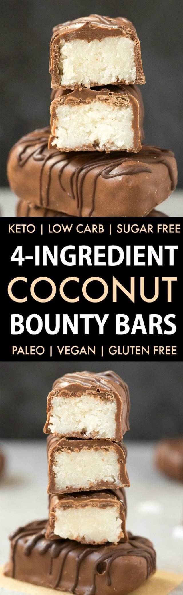 Homemade No Bake Coconut Bounty Bars