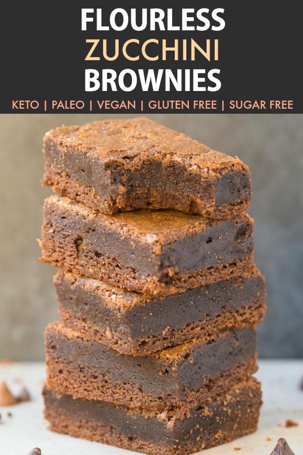 Flourless Keto Zucchini Brownies