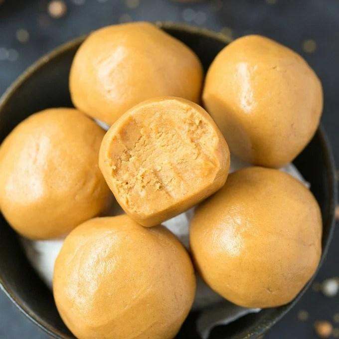 3 Ingredient No Bake Keto Peanut Butter Balls Paleo