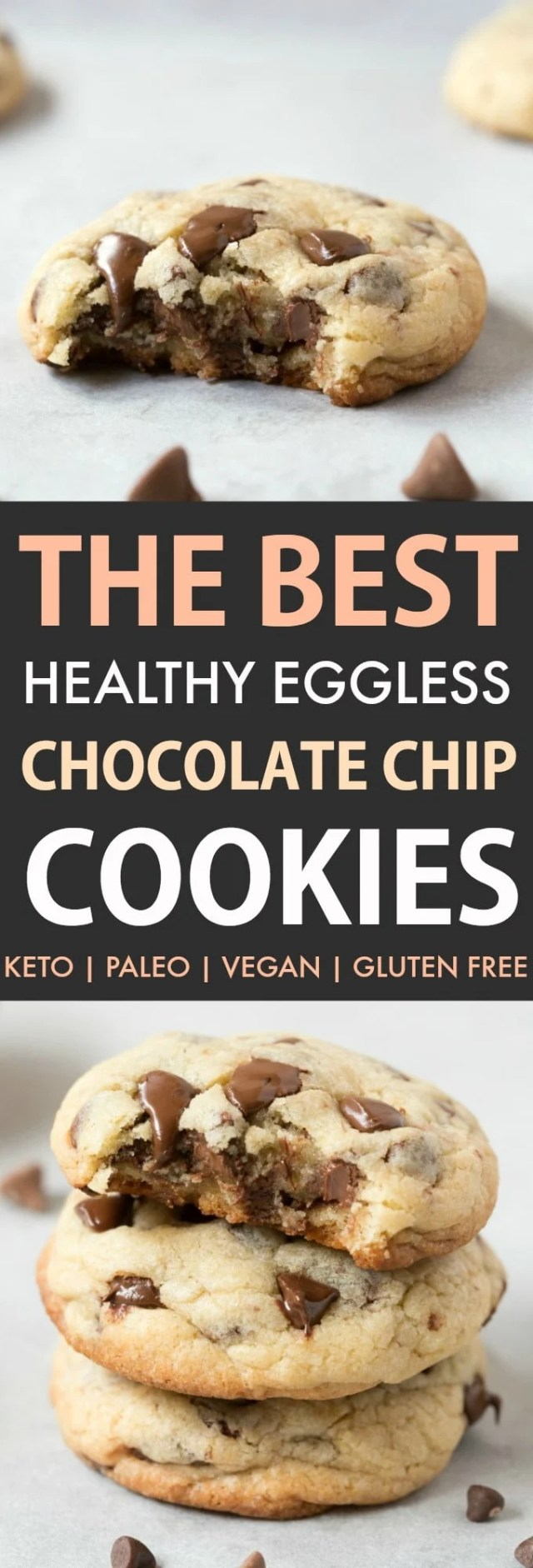 eggless and keto chocolate chip cookies