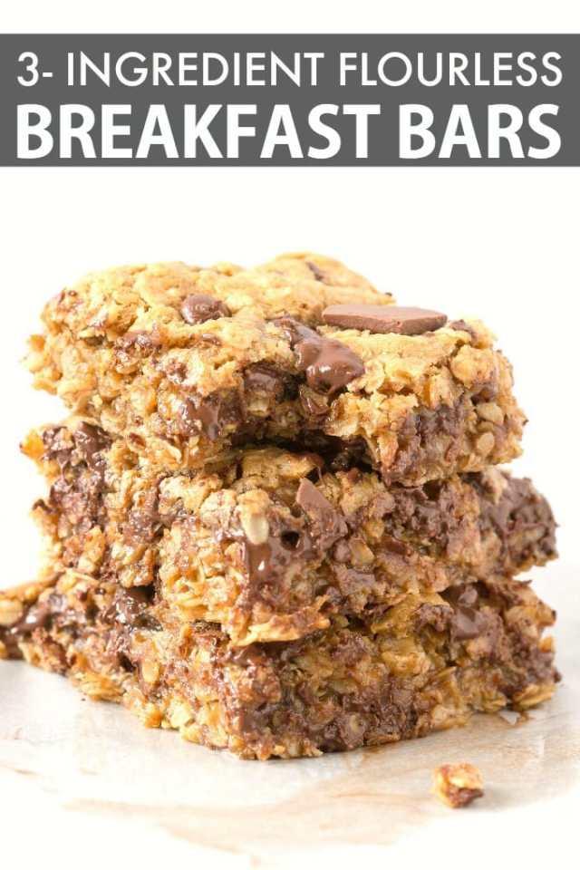 Flourless Banana Oatmeal Breakfast Bars Recipe