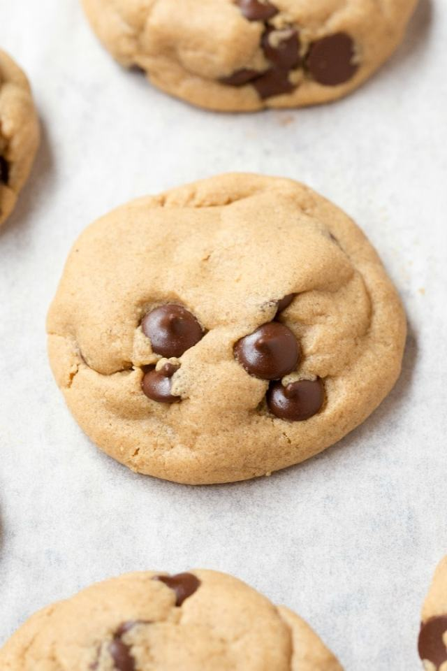 Keto chocolate chip cookies with coconut flour