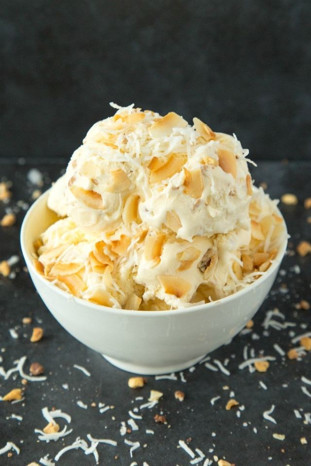 No churn keto and low carb coconut milk ice cream recipe