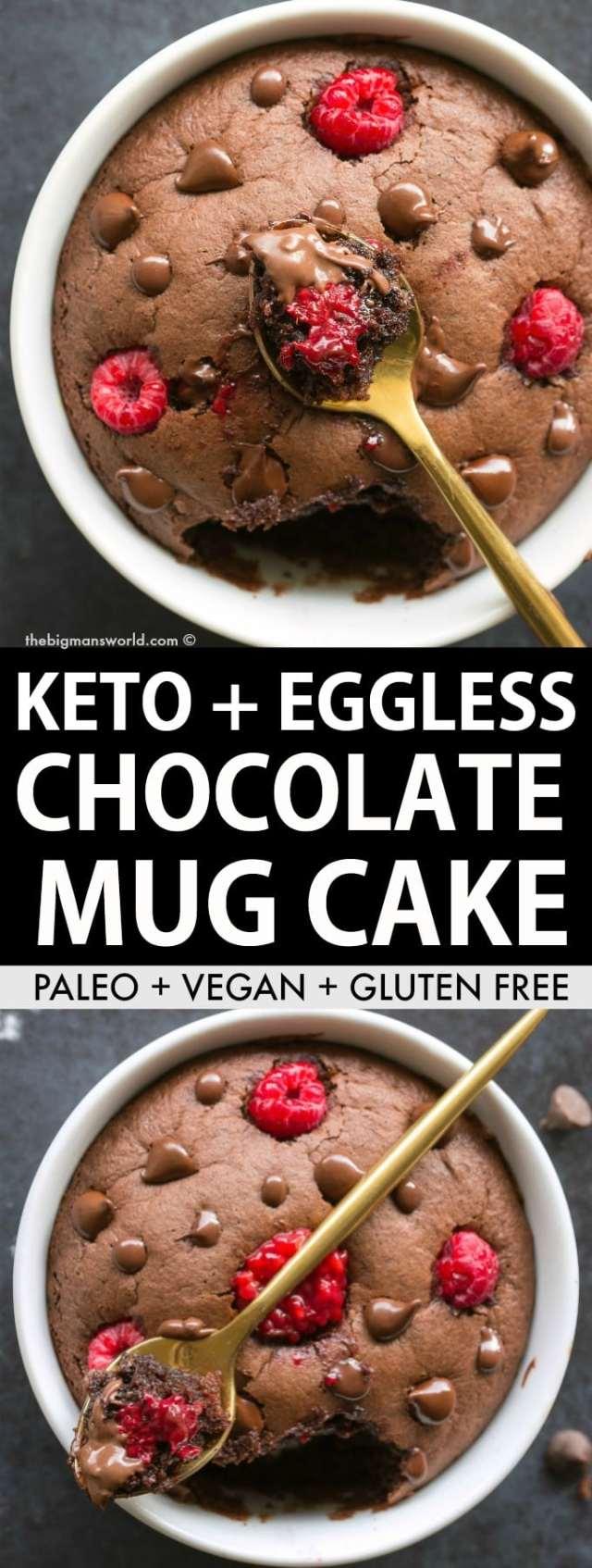 Keto and Low Carb Chocolate Mug Cake made with almond flour- No coconut, no eggs and no sugar!