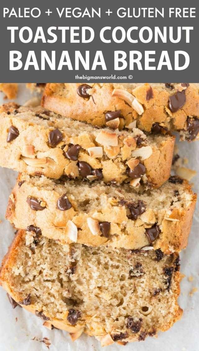 Healthy Banana and Coconut Bread Recipe (Paleo, Vegan
