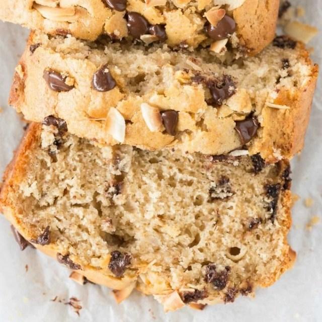 Healthy Banana and Coconut Bread Recipe (Paleo, Vegan, Gluten Free)