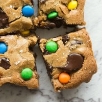 Healthy Keto Monster Cookie Bars Recipe