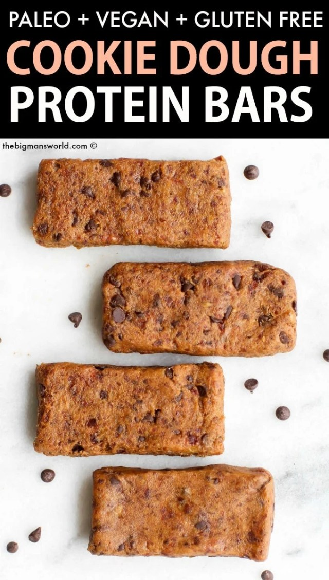 no bake cookie dough protein bars recipe