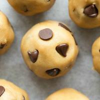 Paleo Keto Vegan Chocolate Chip Cookie Dough No Bake Bites Recipe