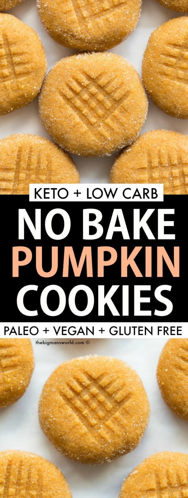Easy keto vegan pumpkin spice no bake cookies recipe