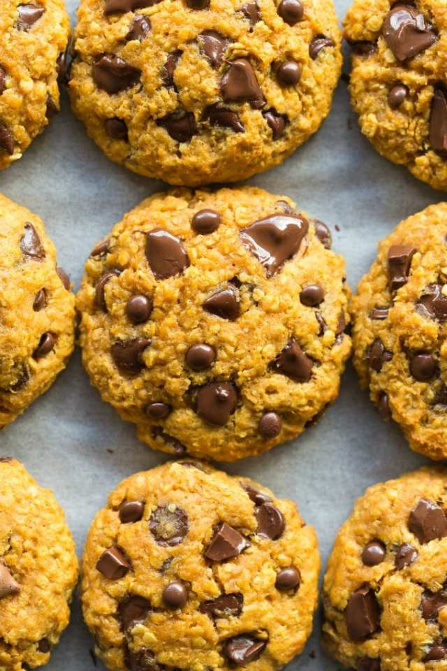 Healthy Pumpkin Breakfast Cookies Recipe without flour and without eggs