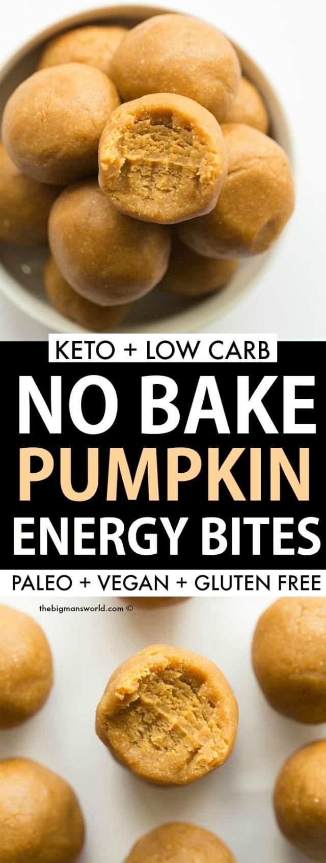 Easy Paleo Vegan No Bake Pumpkin Pie Energy Balls Recipe