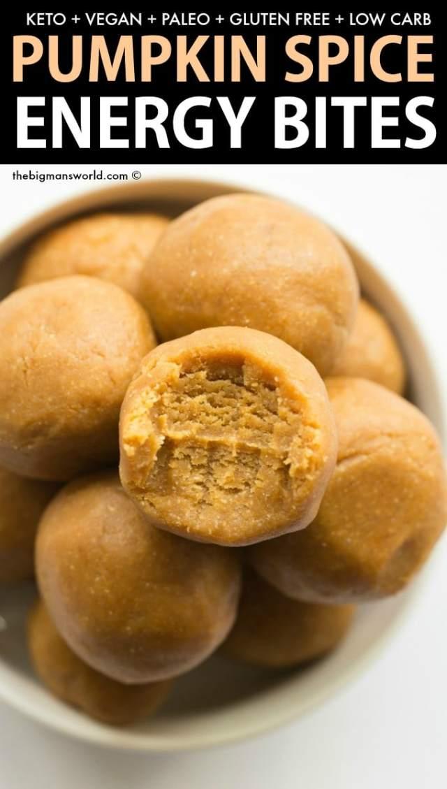 Healthy No Bake Pumpkin Pie Energy Balls Recipe