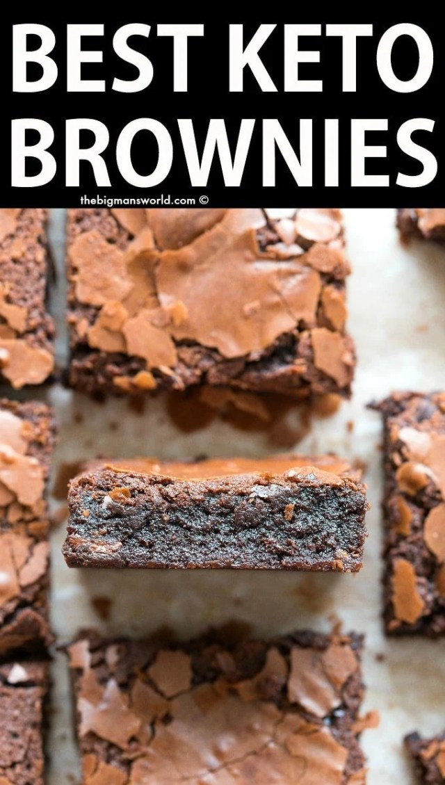 Best easy keto fudgy brownies recipe