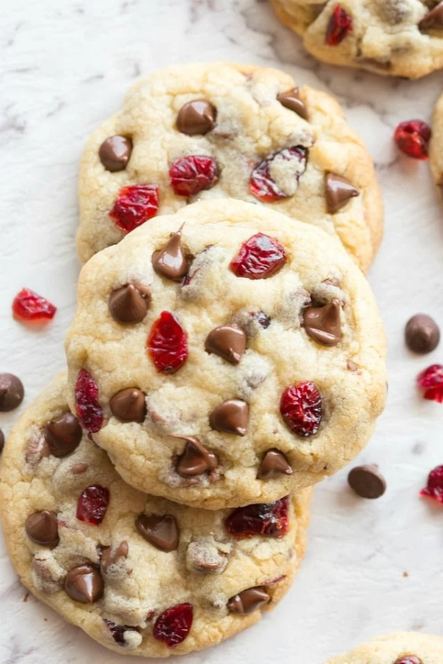 Easy soft and chewy cranberry chocolate chip keto cookies recipe