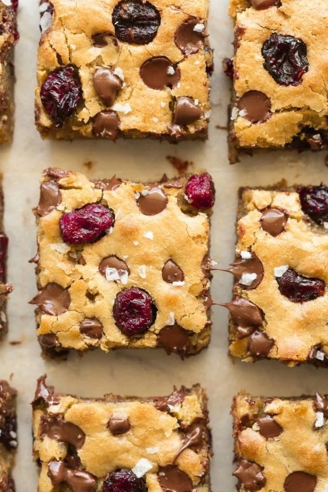 soft chewy cranberry blondies recipe