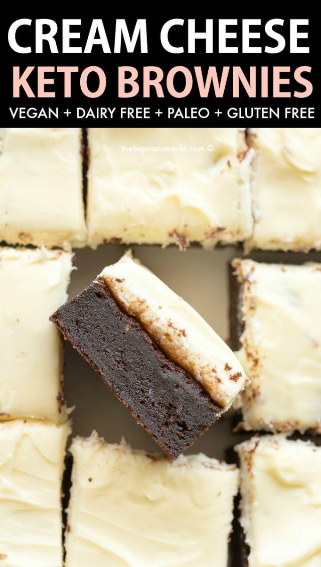 Keto Vegan Cream Cheese Brownies