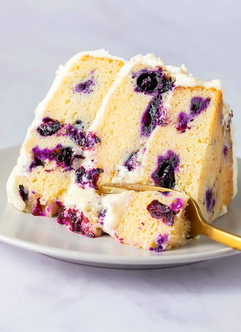 Easy Vegan Lemon Blueberry Cake
