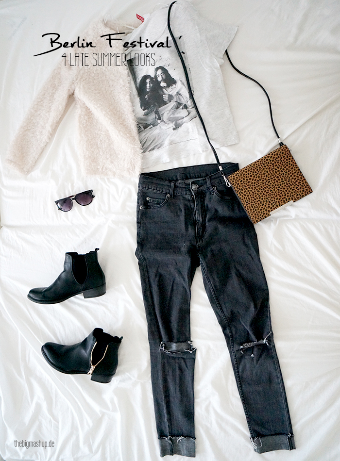 outfit inspiration festival look ripped jeans berlin festival chelsea boots