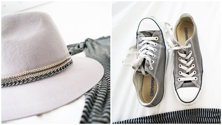 grey promod hat and low converse chucks