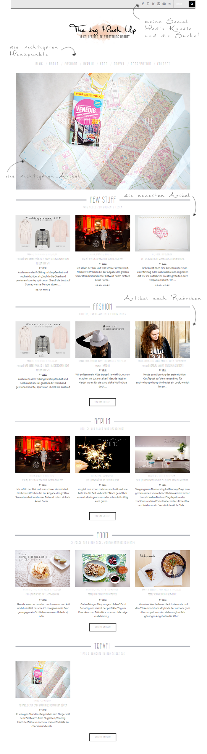 Wordpress Blog Theme Screenshot new Design